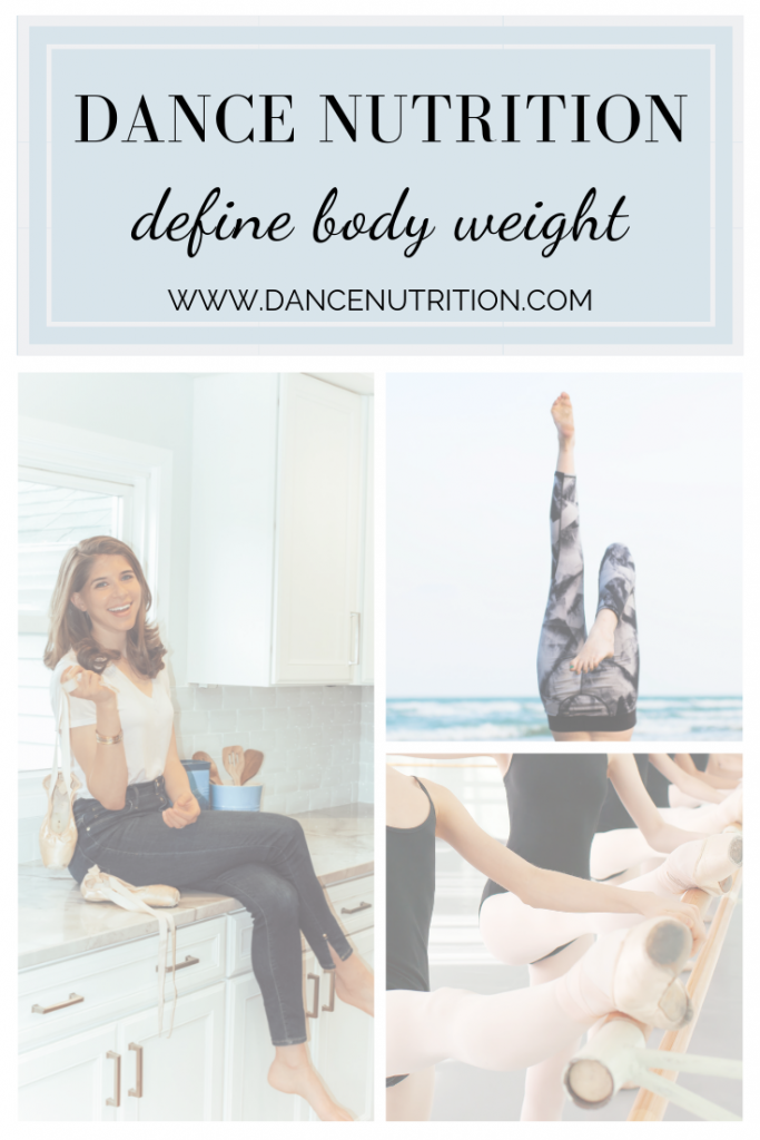 dancer nutrition define a healthy body weight