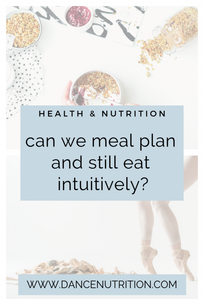 meal planning and intuitive eating