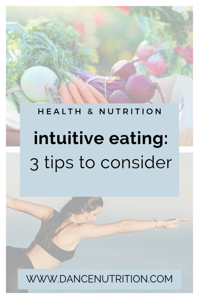 intuitive eating for dancers