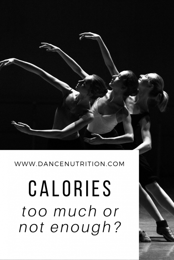 calories for dancer