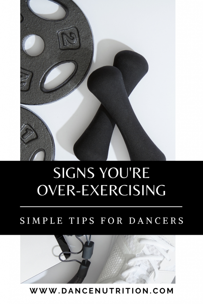 dancers over-exercise